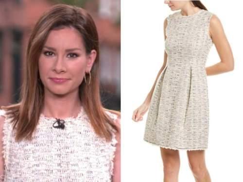 rebecca jarvis, good morning america, tweed dress