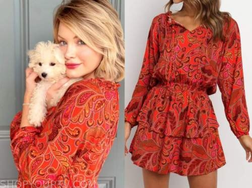 jenna cooper, red paisley dress, the bachelor