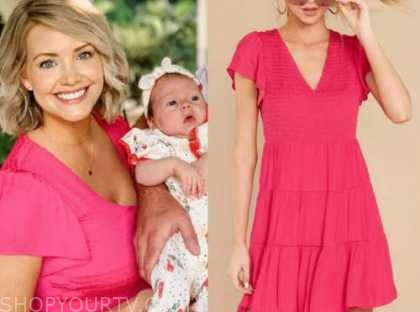 jenna cooper, the bachelor, hot pink dress