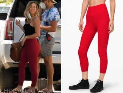 clare crawley, the bachelorette, red leggings