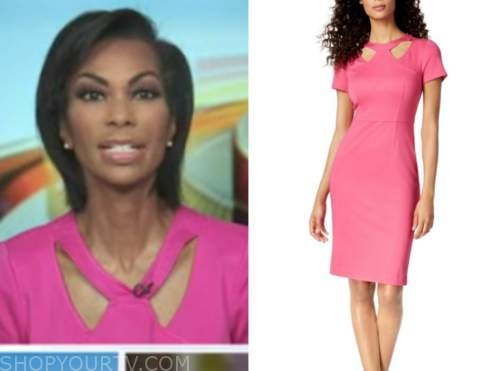 harris faulkner, pink cutout sheath dress, outnumbered
