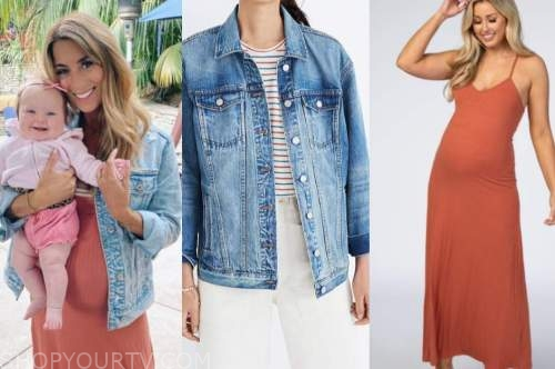 tenley molzahn, the bachelor, denim jacket, orange dress
