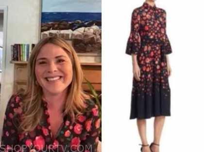 jenna bush hager, E! news, daily pop, floral dress