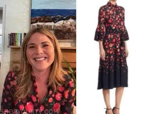jenna bush hager, E! news, daily pop, floral dress
