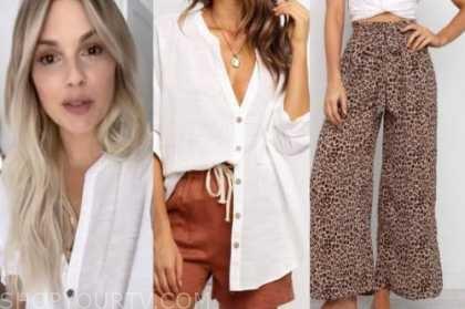 ali fedotowsky, the bachelorette, white shirt, leopard pants
