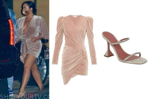 demi lovato, beige velvet dress, crystal sandals