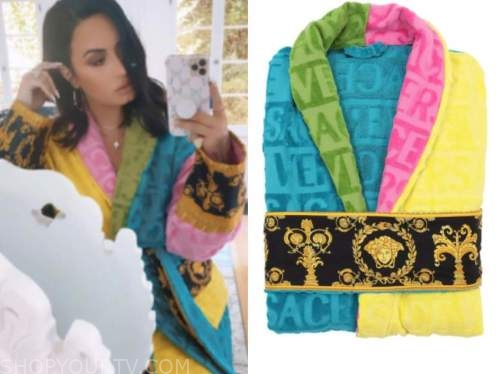 demi lovato, multicolor robe