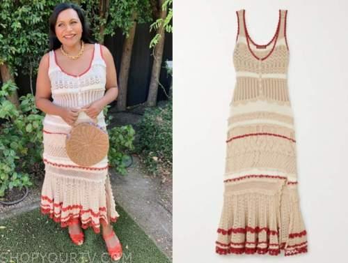 mindy kaling, knit dress,