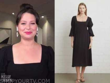 katie lowes, live with kelly and ryan, black maternity dress
