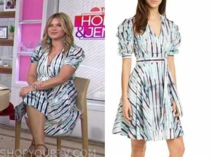 the today show, jenna bush hager, striped wrap dress