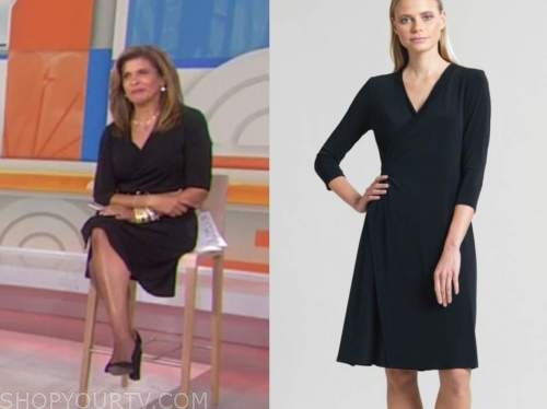 hoda kotb, black wrap dress, the today show