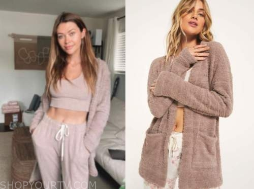 caelynn miller-keyes, the bachelor, brown fuzzy cardigan sweater