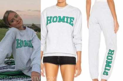 hannah godwin, grey homie sweatshirt and sweatpants, the bachelor