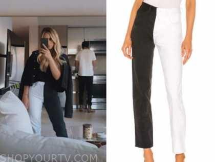 the bachelor, amanda stanton, black and white jeans
