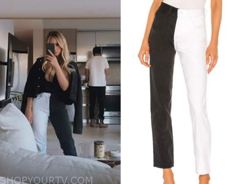 the bachelor, amanda stanton, black and white jeans