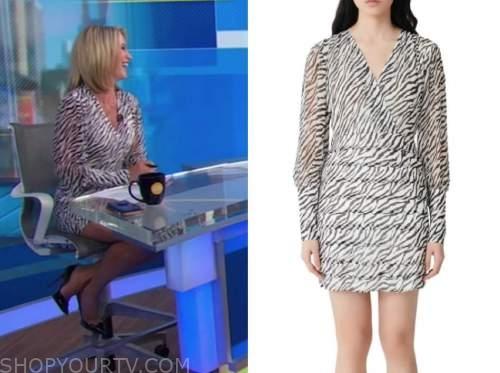 good morning america, zebra print dress, amy robach