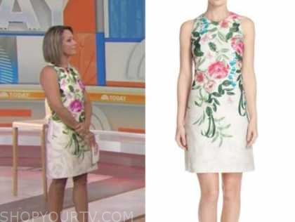dylan dreyer, the today show, floral sheath dress