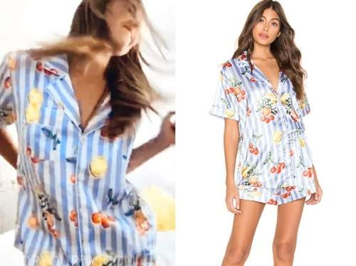 hannah brown, the bachelorette, fruit striped pajama set