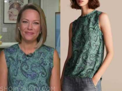 dylan dreyer, green paisley top, the today show