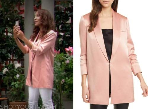 lily winters ashby, the young and the restless, blush pink blazer