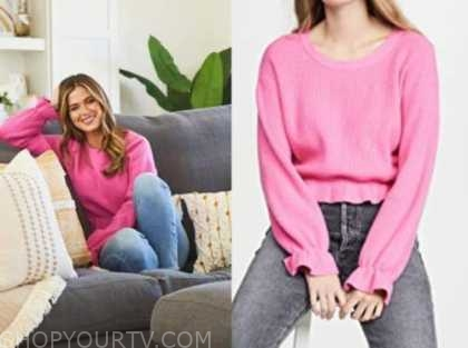 jojo fletcher, the bachelorette, pink sweater