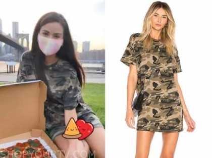caila quinn, camo t-shirt dress, the bachelor