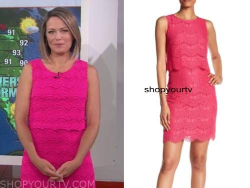 dylan dreyer, the today show, pink lace dress