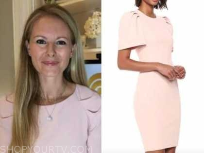victoria arbiter, blush pink sheath dress, the today show