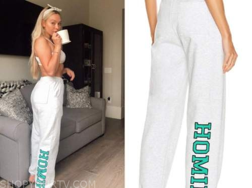 corinne olympios, the bachelor, grey homie sweatpants