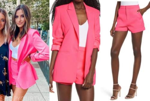 tia booth, the bachelor, hot pink blazer and shorts