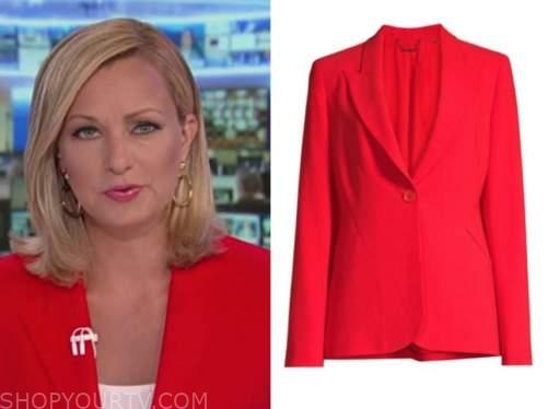 sandra smith, america's newsroom, red blazer