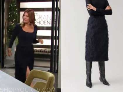 phyllis newman, blue feather skirt, the young and the restless, michelle stafford