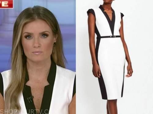 jillian mele, fox and friends, black and white sheath dress