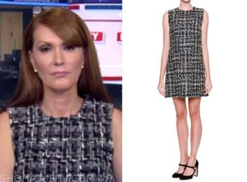 outnumbered, dagen mcdowell, tweed shift dress