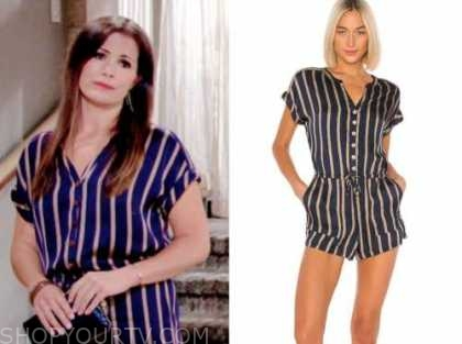 chelsea newman, melissa ordway, the young and the restless, striped romper
