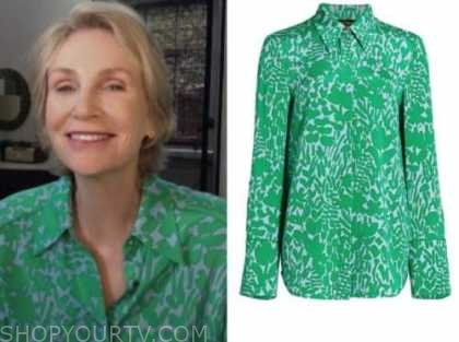 jane lynch, green floral shirt, the today show