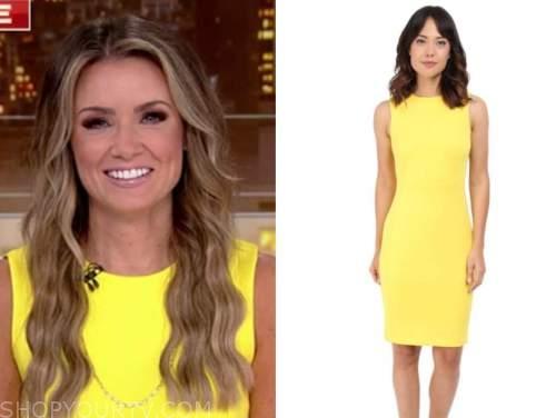 jillian mele, fox and friends, yellow sheath dress