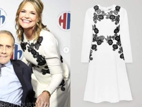 savannah guthrie, the today show, black and white lace dress