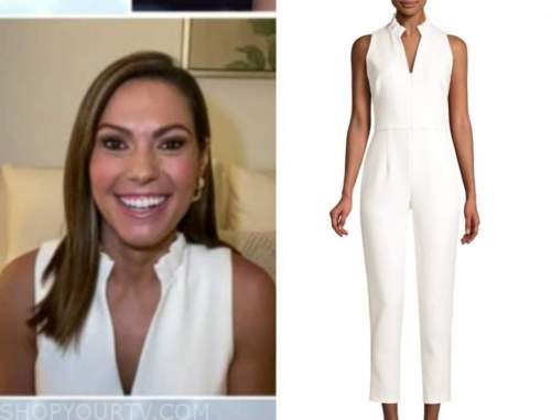 lisa boothe, fox and friends, white jumpsuit