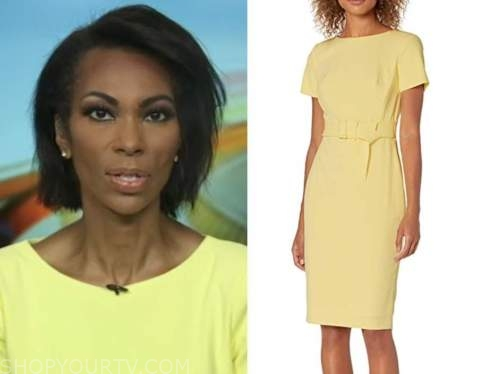 harris faulkner, yellow cap sleeve dress, outnumbered