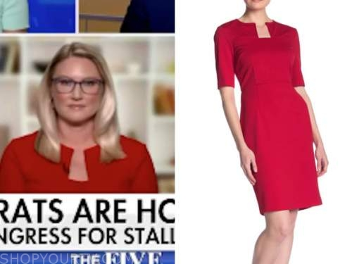 marie harf, red sheath dress, the five