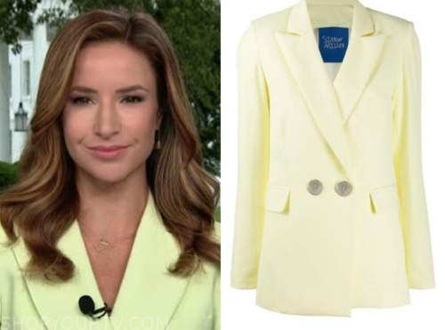 kristin fisher, the daily briefing, yellow blazer
