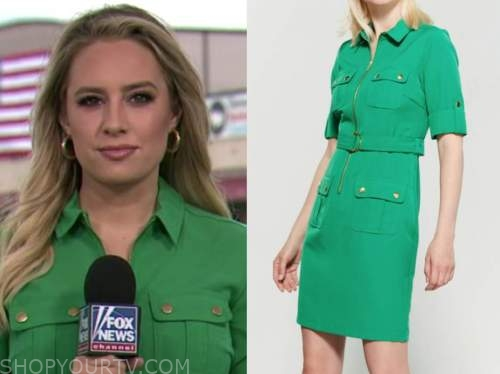 Jacqui Heinrich, green utility dress, the daily briefing