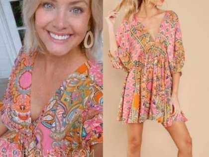 jenna cooper, the bachelor, pink paisley dress