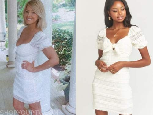 jenna cooper, white lace dress, the bachelor