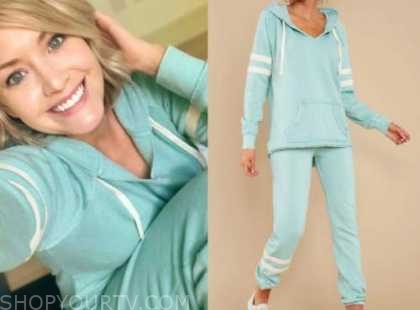 jenna cooper, the bachelor, mint green hoodie and sweatpants