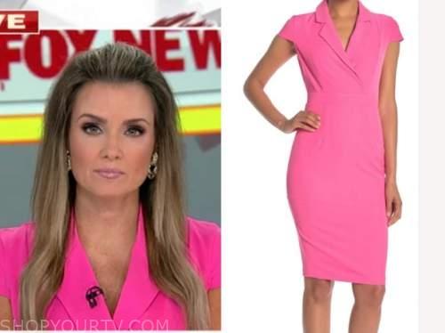 jillian mele, fox and friends, hot pink blazer dress