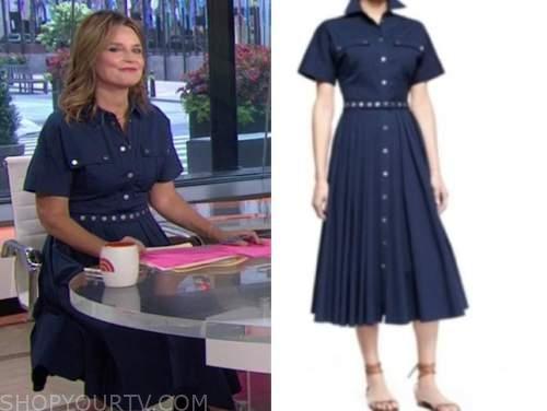 savannah guthrie, the today show, denim midi shirt dress