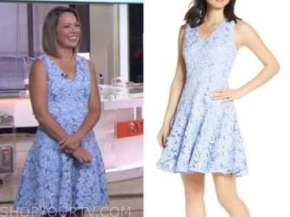 dylan dreyer, the today show, blue lace dress