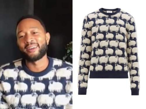 john legend, the today show, sheep sweater